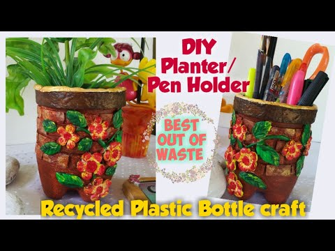 diy-planter-from-plastic-bottle-|recycled-plastic-bottle-crafts-|-easy-crafts-from-a-plastic-bottle