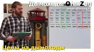 Цены на дымоходы(Дымоходы OfenZug, http://www.ofenzug.ru Мы рассчитали и сравнили цены 10 дымоходов от разных производителей. В видео сравн..., 2016-04-18T08:37:08.000Z)
