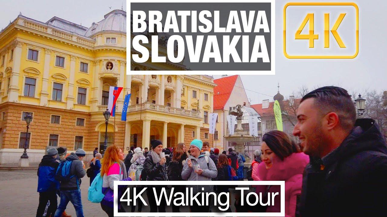 4K City Walks: Bratislava Slovakia - Old Town Capital - Virtual Walk Treadmill City Guide & Tour