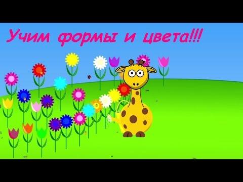 Обучающее видео для малышей. Учим цвета и формы.