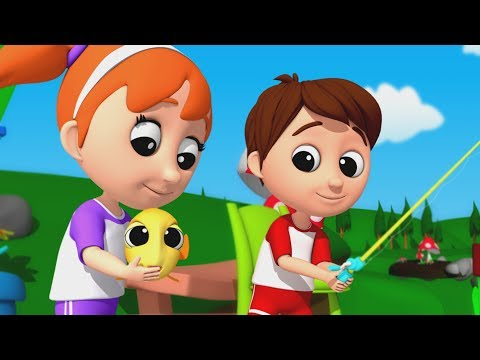 Luke & Lily - 1, 2, 3, 4, 5 Once I Caught A Fish alive | Nursery Rhyme | Baby Songs