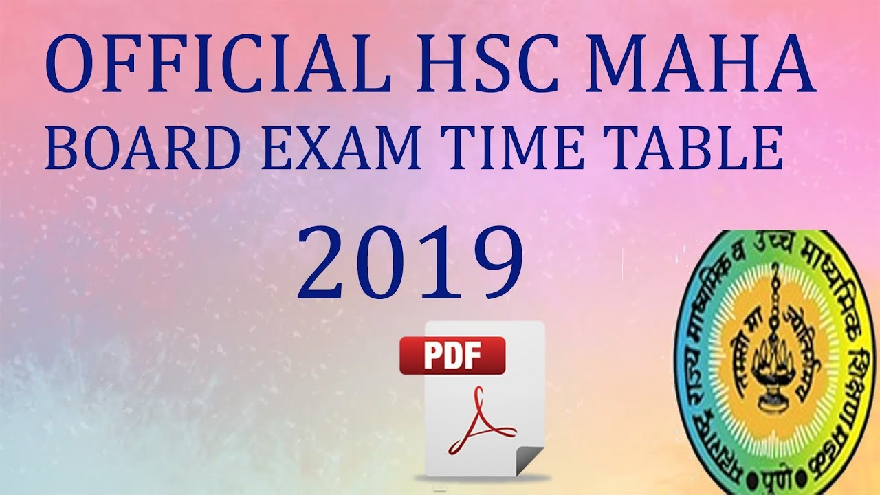 2019 Official Hsc Maharashtra Board Exam Time Table 2019 Arts