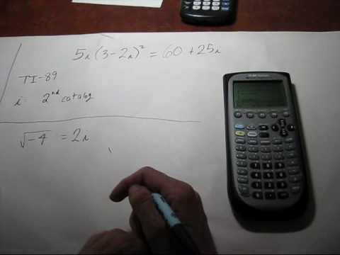 Complex Numbers On The Calculator Ti 89 Youtube