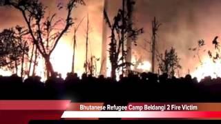 Bhutanese Refugee Camp Fire Beldangi