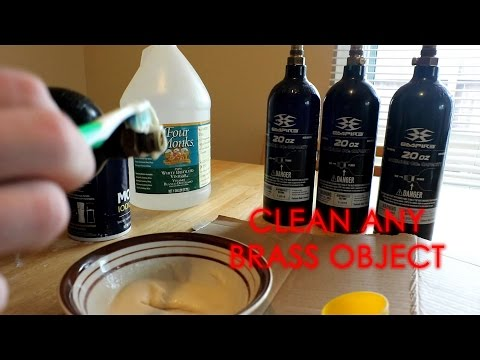 Clean Brass with Household Cleaners