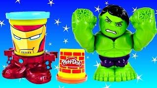 new 2015 play doh hulk smashdown can heads iron man marvel superhero playdough toys by dctc