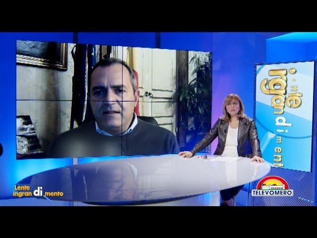 LENTE DI INGRANDIMENTO CON IL SINDACO DI NAPOLI LUIGI DE MAGISTRIS 23 DICEMBRE 2020