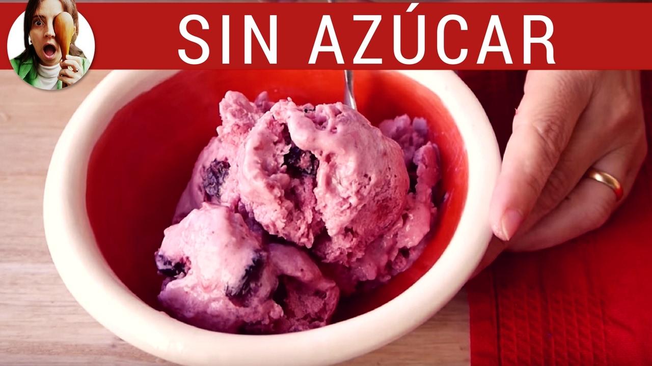 Cómo hacer helado SIN AZÚCAR // Receta de postres saludables - Paulina Cocina