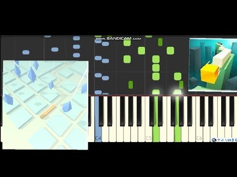 Beginning (Old Version) Dancing Line Synthesia Piano Music Sheet
