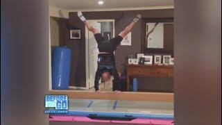 Daughter Teaches Dad Gymnastics