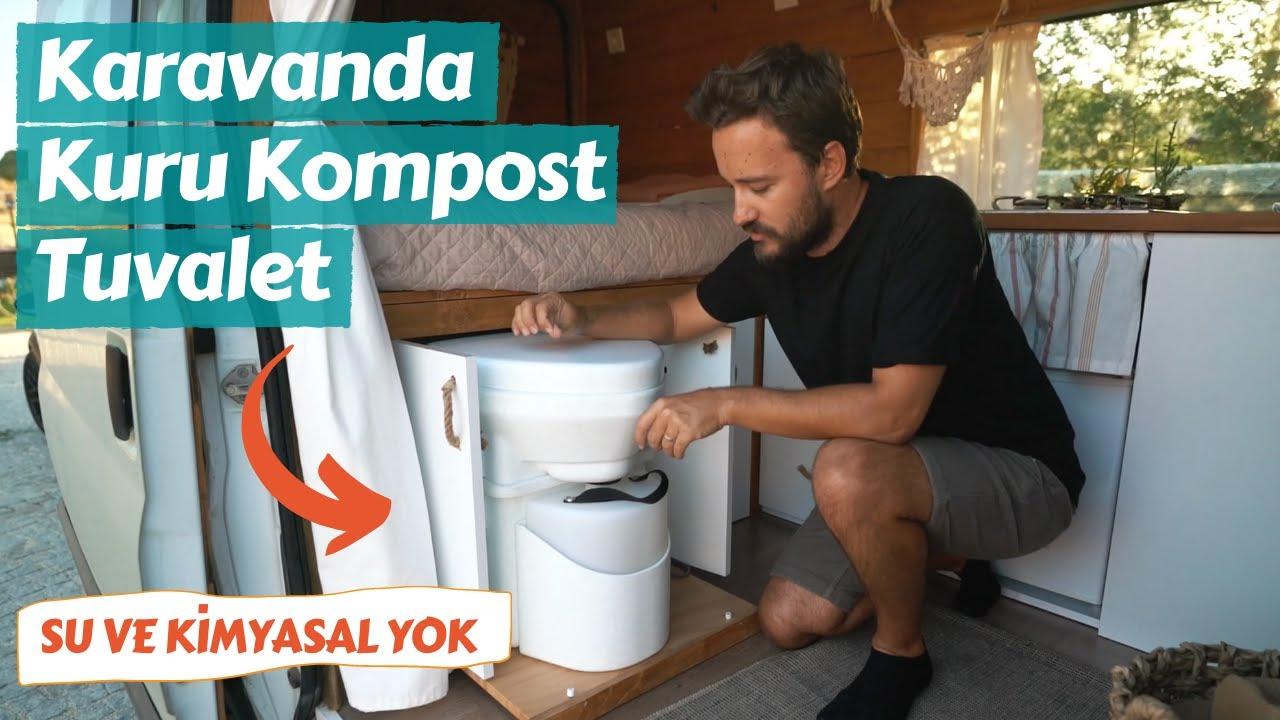 Karavanda Susuz Tuvalet Çözümü - Kuru Kompost Nature's Head Tuvalet - Trail of Us Van Life