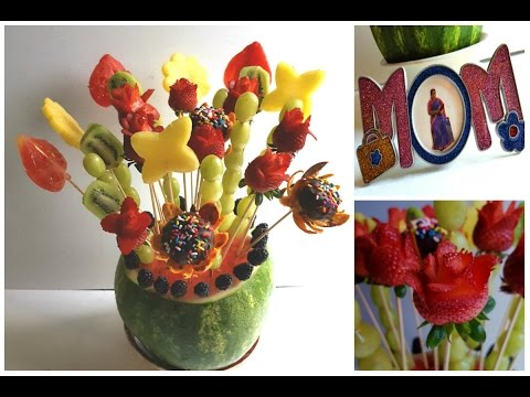 Mother's day special Edible fruit basket |Edible fruit bouquet|Edible fruit arrangement tutorial