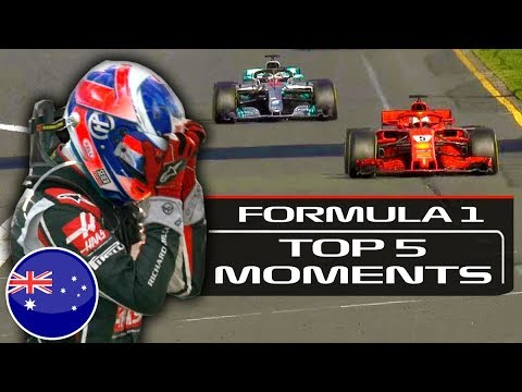 Top 5 Moments From The 2018 F1 Australian Grand Prix