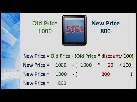 Programming 1 Java 1 10 Price And Discount Program Youtube
