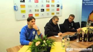 Pressekonferenz - VfB Auerbach gegen 1. FC Magdeburg - www.sportfotos-md.de