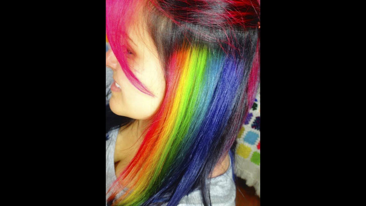 Resultado de imagen de mechas arco iris