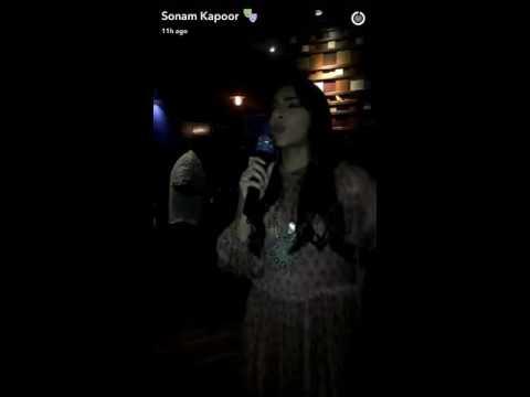 Sonam Kapoor Does Karaoke