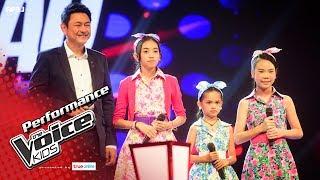 จินนี่ VS ป่าน VS กุ้งเต้น - ปูนาขาเก - Battle - The Voice Kids Thailand - 4 June 2017