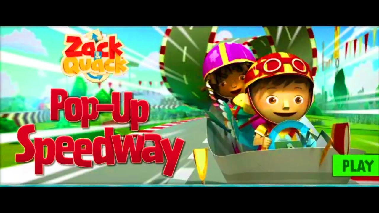 Zack and Quack Pop-Up Speedway Racing Game!