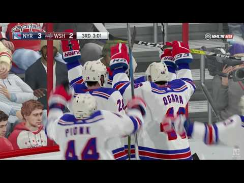 NHL 19 - New York Rangers vs Washington Capitals Online Gameplay PS4