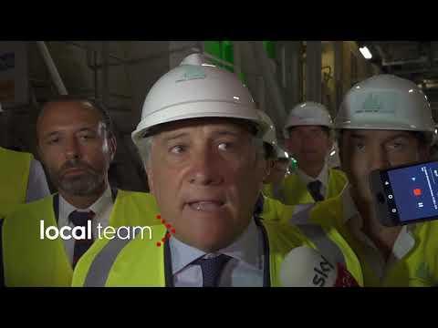 Dentro il cantiere della Tav durante visita Tajani