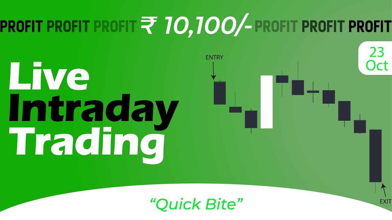 Live Intraday Price Action Trading    VP Financials    23 OCT 2020