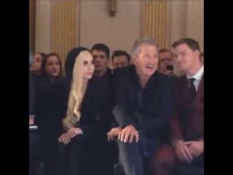 Lady Gaga attends the Versace Fashion Show in Paris