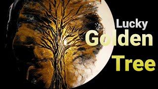 4K lucky Golden Tree epoxy res…