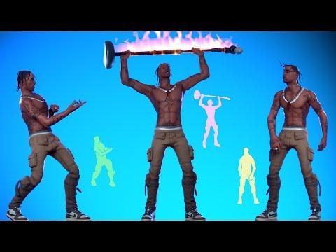 Скин TRAVIS SCOTT Танцует Лучшие Фортнайт Танцы & Эмоции! (В отрыв, Буйство)