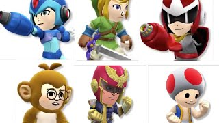 All DLC Mii Costumes in Super Smash Bros Wii U