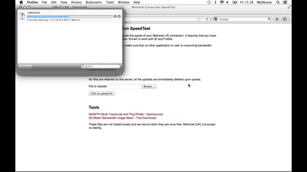 Metronet Internet Speed Test
