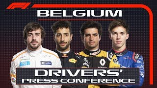 2018 Belgian Grand Prix: Pre-Race Press Conference