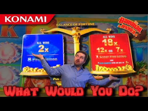 SHOULD I RISK IT ALL? LIVE PLAY on Hawaiian Shores Slot Machine with Bonuses