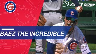 Javier Baez dazzles on defense, hits a HR and a triple