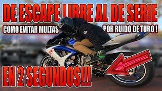 DE ESCAPE LIBRE A SERIE EN 2 SEGUNDOS !!! 😱😱✌🏻✌🏻 COMO EVITAR MULTAS POR RUIDO EN MOTO !!!