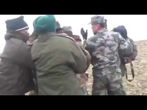 Chinese Army destroying Indian bunkers at Doka la Sikkim 2017