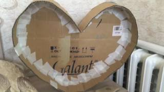 делаем сами объемные цифры фигуры, красное сердце из картона и бумаги, все размеры