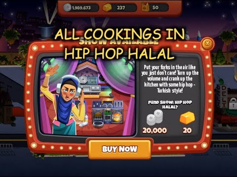 All Cookings In Hip Hop Halal (Cooking Dash)