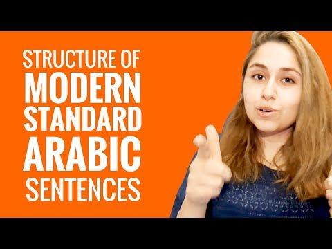 Ask an Arabic Teacher - What is the structure of Modern Standard Arabic sentences?