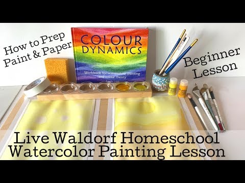 Lesson 1 Yellow | Live Watercoloring Lesson | Waldorf Wet On Wet Painting