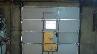 Секционные ворота с дверью своими руками.
