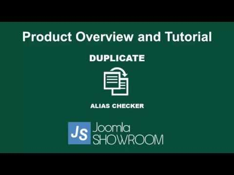 Duplicate Alias Checker For Joomla