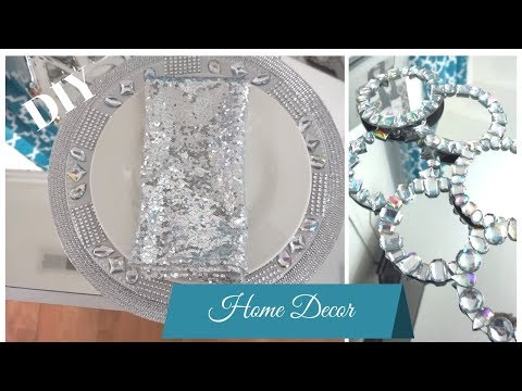 Dollar Tree Easy DIY Charger Plate and Coaster--Lets Bling Out