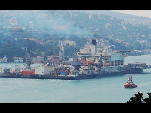 Shipspotting Istanbul Strait - Pioneering Spirit (31/05/2017)