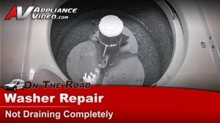 whirlpool washer repair not draining after spin cycle drain hose pump la6800xpw1