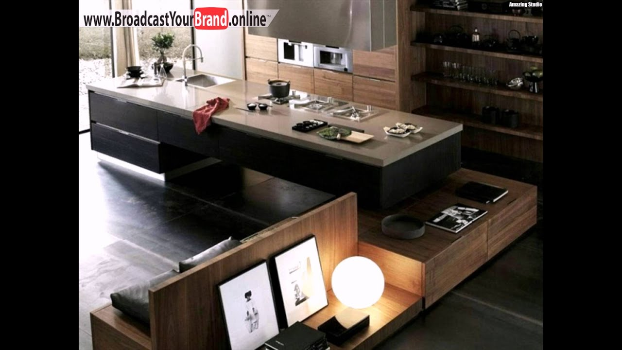 terra design moderne k che holz berlappende sitzbank kochinsel youtube. Black Bedroom Furniture Sets. Home Design Ideas