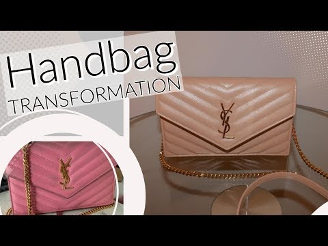 WATCH ME TRANSFORM THIS YLS PURSE!! | HOW TO DYE LEATHER  | DIY TUTORIAL