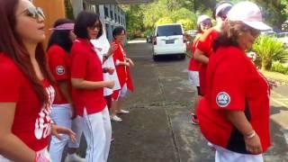 Ronda Dance - line dance (Wenarika) , RnF Class outing @ Melrimba Garden, Puncak, 10 August 2017