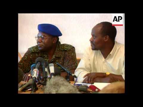 Zaire- Commander of Tutsi forces addresses presser