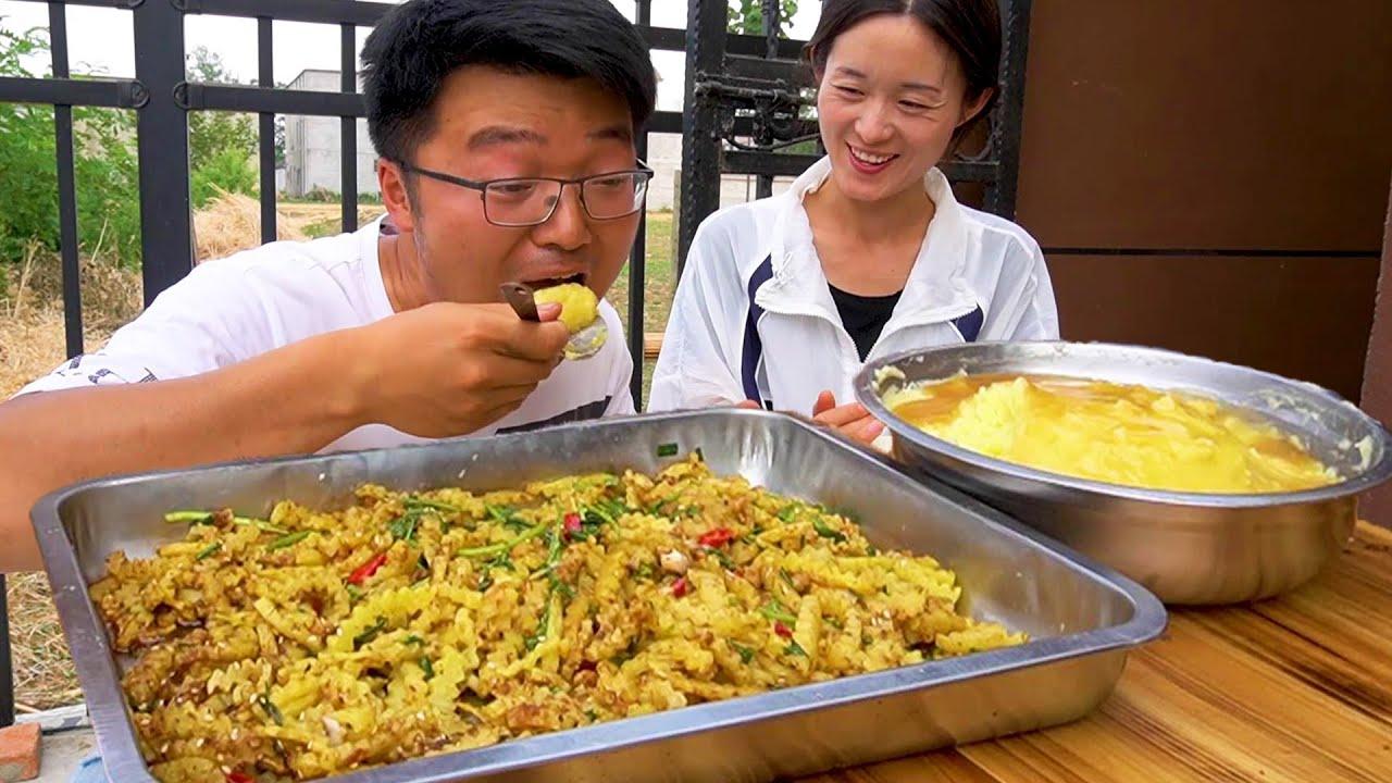 """一地土豆做俩菜,狼牙土豆配上土豆泥,大sao这顿""""土豆宴""""真解馋!【徐大sao】"""